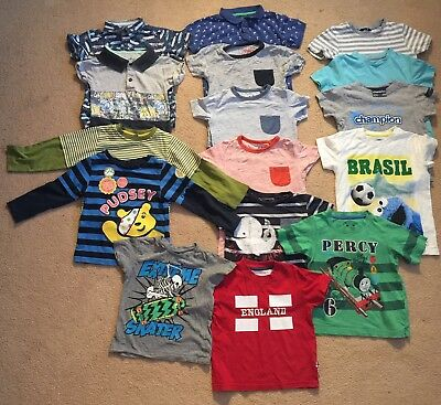 **NEXT & Other Brands** 16 Item Boys T'shirt Bundle • Age 2-3 Years • VGC