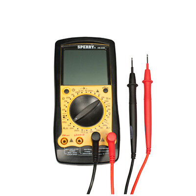 Sperry DM6400 8 Function Digital Multimeter, Manual, 28 Range