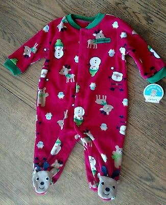 Carters Child of mine Christmas sleeper 0-3 months new with tags