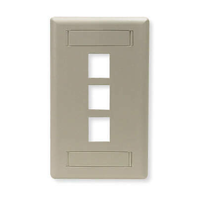 HUBBELL PREMISE WIRING Plastic Wall Plate,3 Port, IFP13W, White
