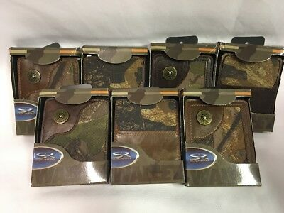 Wholesale Lot Of 7 Solaray Camo Bifold Premium Wallets Each Pre-Priced At $14.99