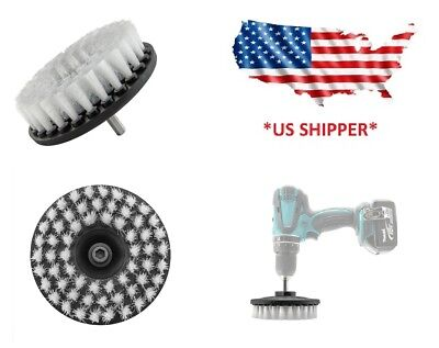 5 inch drill brush for Car care Carpet, Leather, canvas, shoes SOFT DUTY (GRAY)