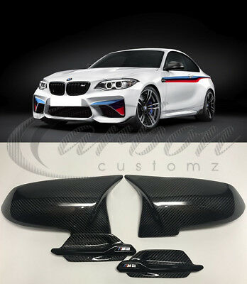 Bmw F87 M2 Real Carbon Fibre 'M3/M4 Style' Mirror Covers 2015 + Side Grille's