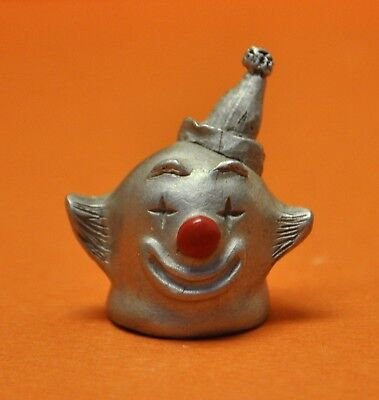 Spoontiques Happy Clown in Birthday Hat Pewter Thimble