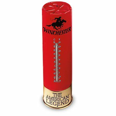Winchester Indoor / Outdoor Shotshell Tin Thermometer 1365