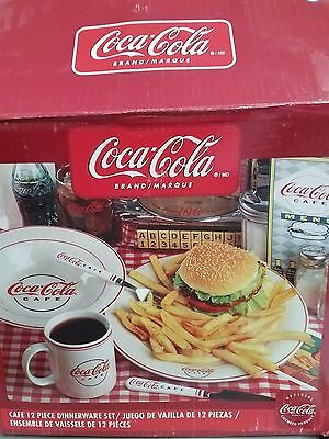 COCA COLA  by Gibson Vintage 1960's 12 piece Ceramic Dinnerware Set