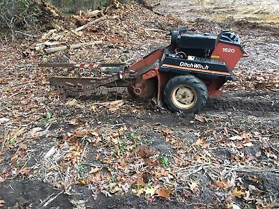 Ditch Witch 1620 Trencher Walk Behind Trench Digger Tool Trenching Machine Used