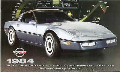 Franklin Mint 1:24 1984 Corvette Sport Coupe Brochure