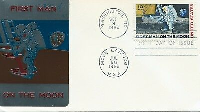 First Day Cover, First Man On The Moon, Rare Foil Sticker