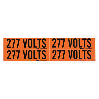 BRADY Voltage Card,4 Markers,277 Volts, 44212