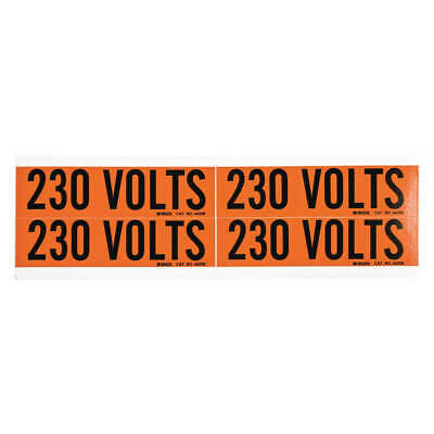 BRADY Voltage Card,4 Markers,230 Volts, 44208