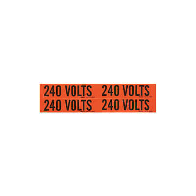 BRADY Voltage Card,4 Markers,240 Volts, 44210