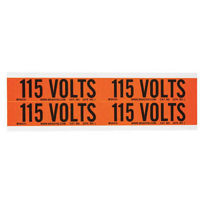 BRADY Voltage Card,4 Markers,115 Volts, 44202