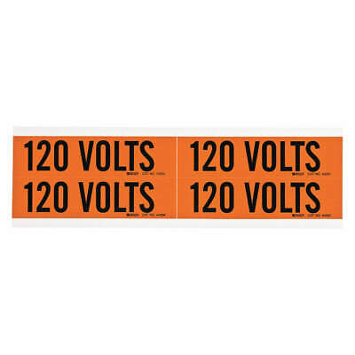 BRADY Voltage Card,4 Markers,120 Volts, 44204