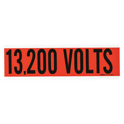 BRADY Voltage Card,1 Marker,13,200 Volts, 44151
