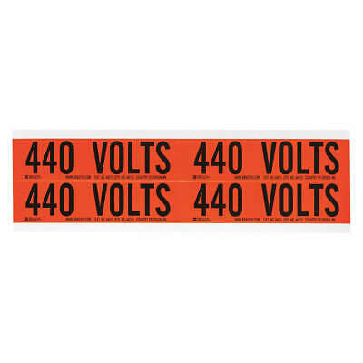 BRADY Voltage Card,4 Markers,440 Volts, 44213