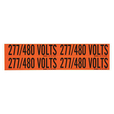 BRADY Voltage Card,4 Markers,277/480 Volts, 44260