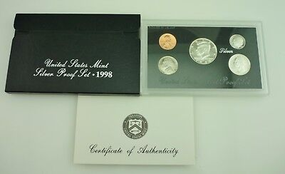 1998 United States Mint 5 Coin SILVER Proof Set ~5068~
