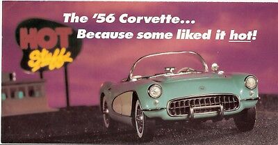 Franklin Mint 1:24 1956 Corvette Roadster Brochure