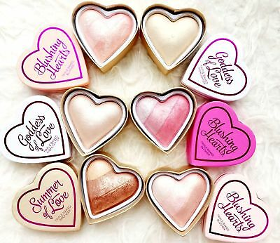 MAKEUP REVOLUTION I ♡ Makeup 'Blushing Hearts' Baked Highlighter Blush Bronzer