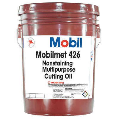 Mobilmet 426, Cutting Oil, 5 gal, 103801, Brown