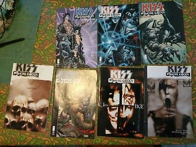 Lot Of 7 Kiss Psycho Circus Image Comic Books   an  graphic novel
