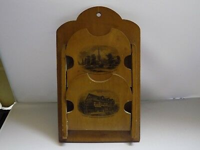 Maucheline Ware Wall Hanging Letter Rack ( Stratford Upon Avon ).