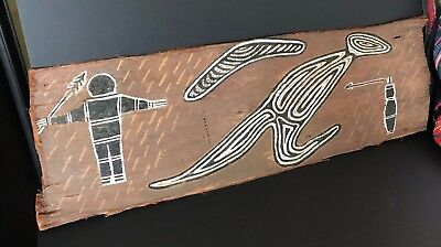 Old Australian Aboriginal Bark Painting …beautiful and unique collection piece