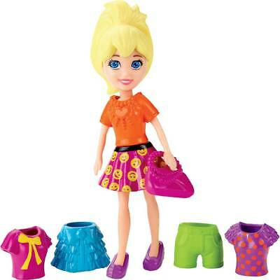 Polly Pocket Polly Doll With Clothes set and Bag