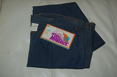 1970's Girls Young Maverick Jeans, Size 8 Slim Orig Tags Bell Bottoms NOS