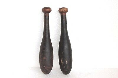 2 Pc Vintage Wooden Hand Carved Indian Washing Cloth Bat/Wand Collectible W53