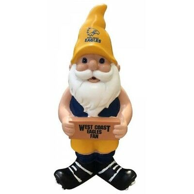West Coast Eagles Official AFL Garden Gnome with Sign