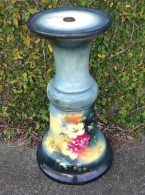 Plant stand antique hand painted ceramic pretty large 71cm GREENWICH Sydney