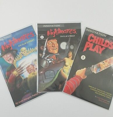 Innovation Nightmares on Elm Street comics Lot vols 1, 3 1991 Child's Play vol 5
