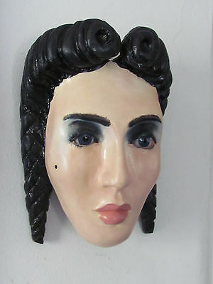 """""""Tia Lolita"""" Wood Carved Mexican Mask  by Juvenal"""