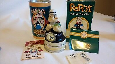 """Fossil 1994 """"popeye"""" The Sailor Man Wrist Watch Limited Edition New"""