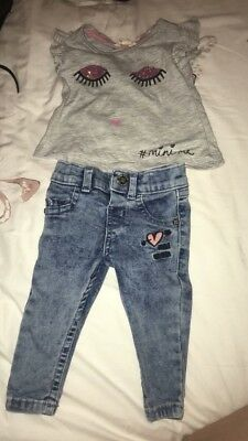 Baby River Island Girls Jeans And top