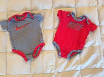 2 Baby Boys Short Sleeve One Pieces - 0-3M Both By Nike