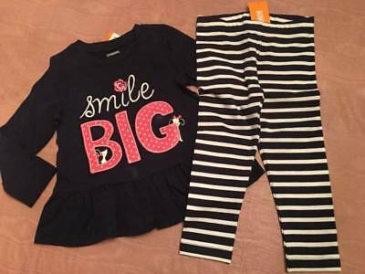 """Gymboree Long Sleeve /""""Be your own Star/"""" Shirt /&Legging Set Outfit 12m 18m 24m 2t"""