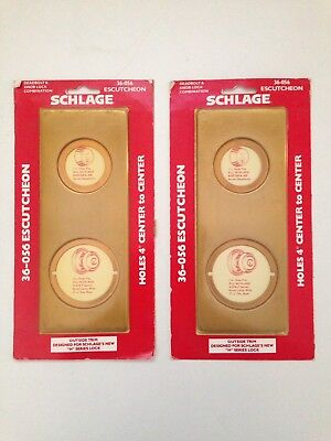 Lot of 2 New in Sealed Box Schlage 36-056 Escutcheon Plates