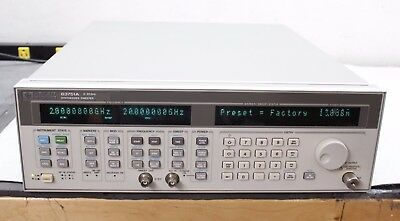 Agilent HP 83751A Synthesized Sweeper 2GHz - 20 GHz Calibrated NIST Certificate