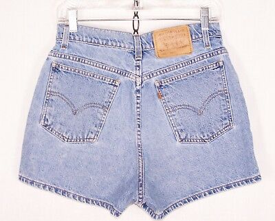 "Vintage 80's Levi's Jean Shorts Slim Fit High Waist // S to M or 28"" W // w462"