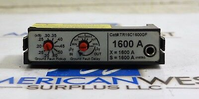 TR16C1600GF GE 1600 amp  Rating Plug + Ground Fault for Power Plus PBII Wave Pro