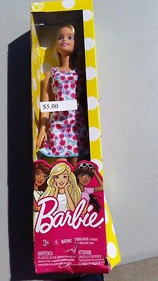 NEW Barbie Fashion Spring Doll 2016 Pink & Purple with Blue Flowered Dress