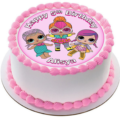 LOL Dolls Edible Wafer Cake Cupcake Toppers Decorations Birthday L.O.L. #212