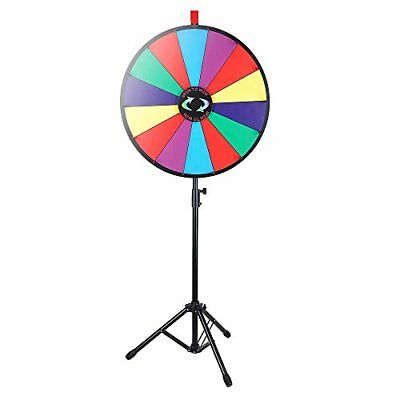 """24"""" Color Prize Wheel Fortune w Folding Tripod Floor Stand Carnival S..."""