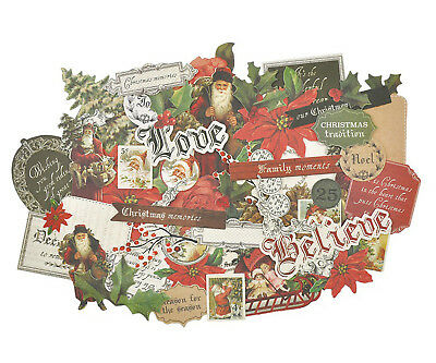 Letters To Santa Collectables Die Cut Shapes Kaisercraft 50+ Piece Pack