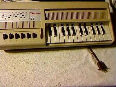 Rare Bontempi 120V 60Hz .35 Amp B3 Piano Portable Keyboard Accompaniment~Works