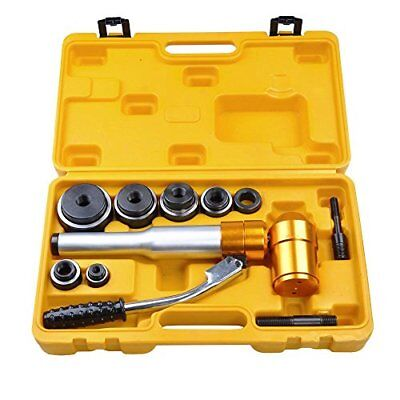 6 Ton Hydraulic Knockout Punch Driver Tool Kit with 6 Dies