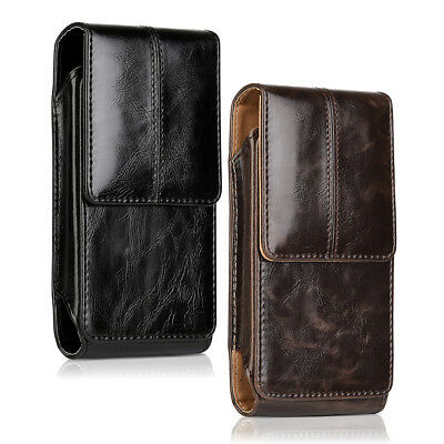 Vertical Leather Belt Clip Case Pouch Cover Holster for iPhone 7 8 8 Plus
